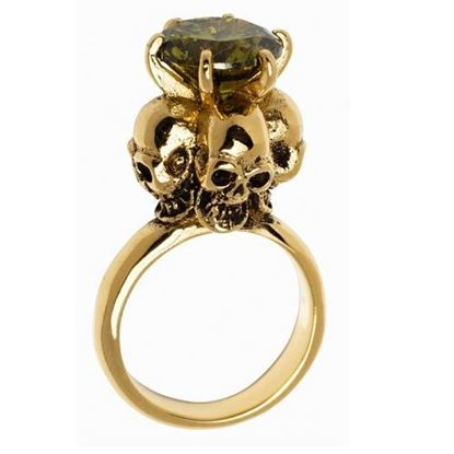 Picture of Four Skulls Ring (Lime Green)